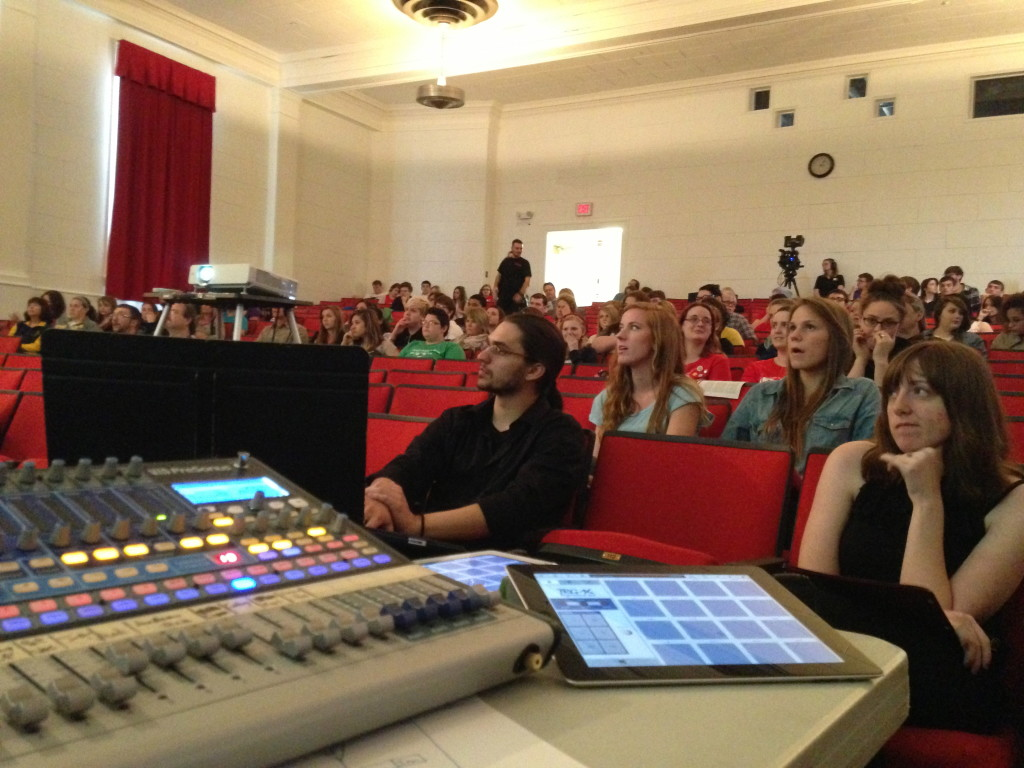 MAD Fest 2013 at WLU.  Those are some members of the Electronic Music Ensemble in the front row.