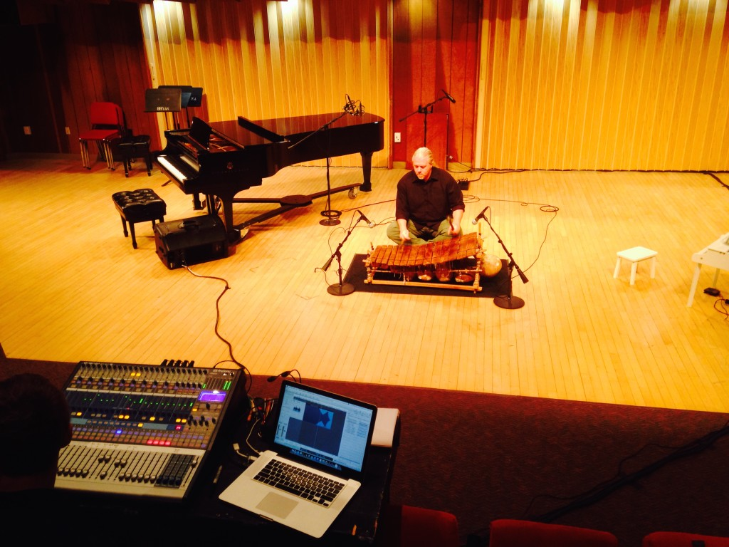 "Mike Vercelli warming up ""Power"" at Bowling Green State University's New Music Festival, October 2014."